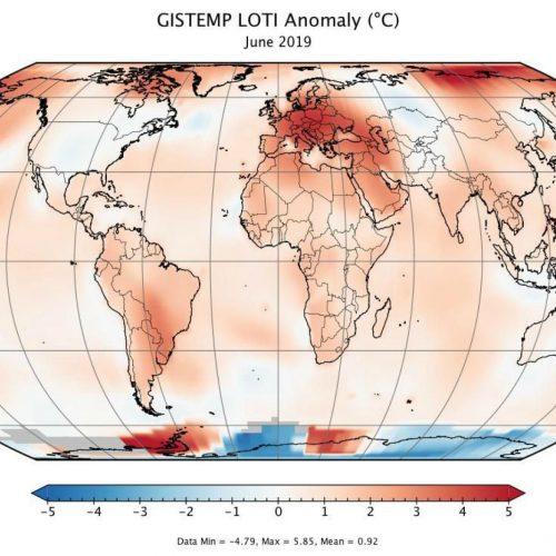 mức nhiệt nóng nhất của trái đất