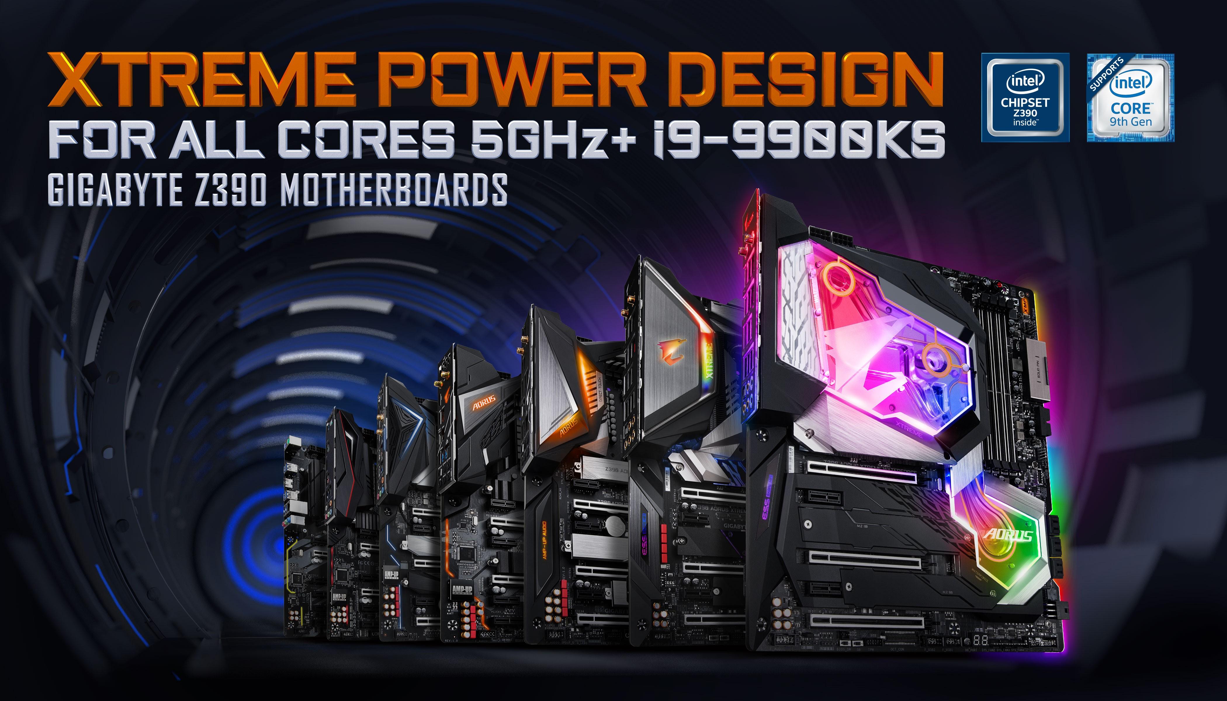 Bo mạch chủ GIGABYTE Z390 cùng tản nhiệt AORUS AIO đã sẵn sàng cho CPU Intel i9-9900KS