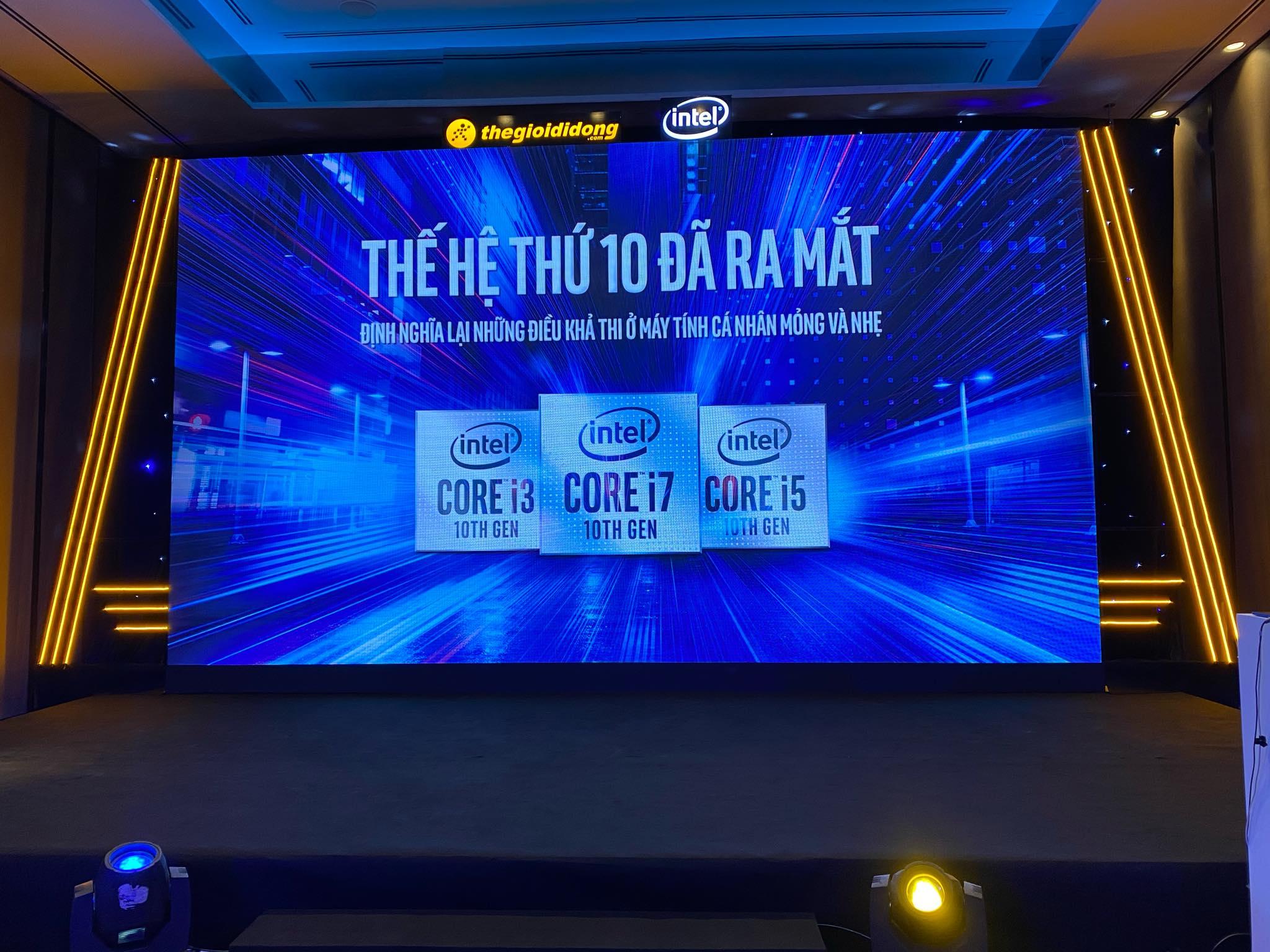 Thế Giới Di Động cùng Intel ra mắt vi xử lý Intel Core thế hệ thứ 10 tại Việt Nam