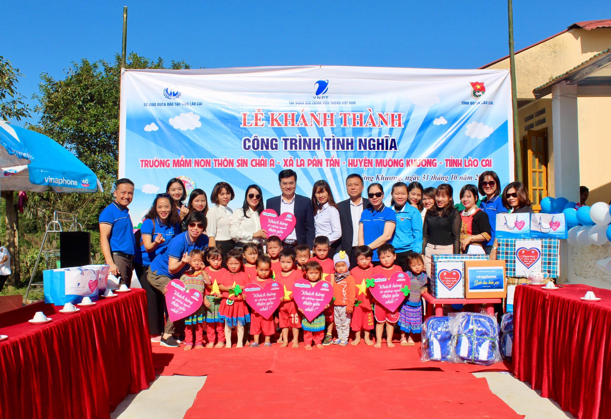 VNPT VinaPhone khánh thành công trình trường mầm non thôn Sín Chải A