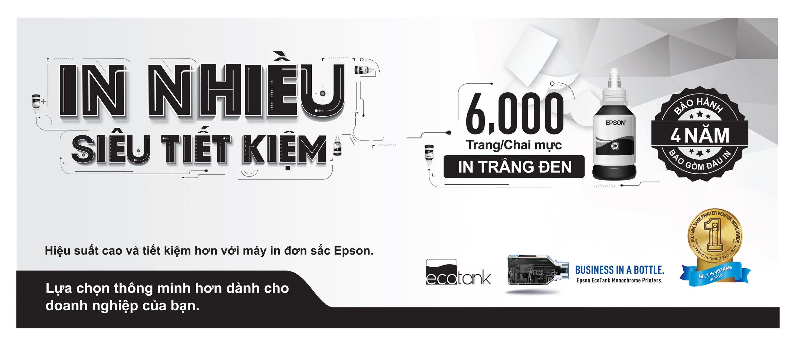 EPSON ra mắt máy in đơn sắc siêu tiết kiệm tại Việt Nam