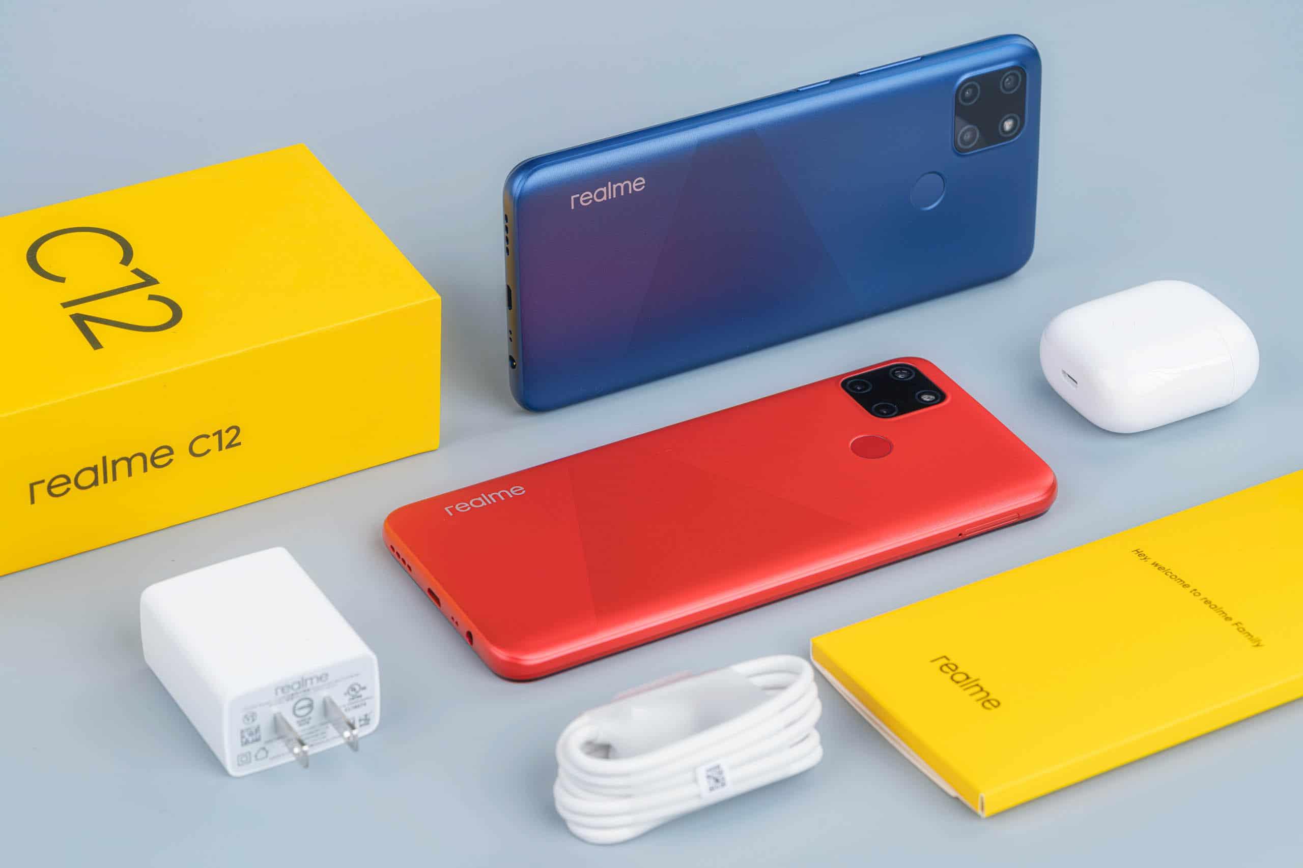 Realme ra mắt Realme C12: pin 6000mAh, 3 camera, màn hình giọt sương 6.5 inch