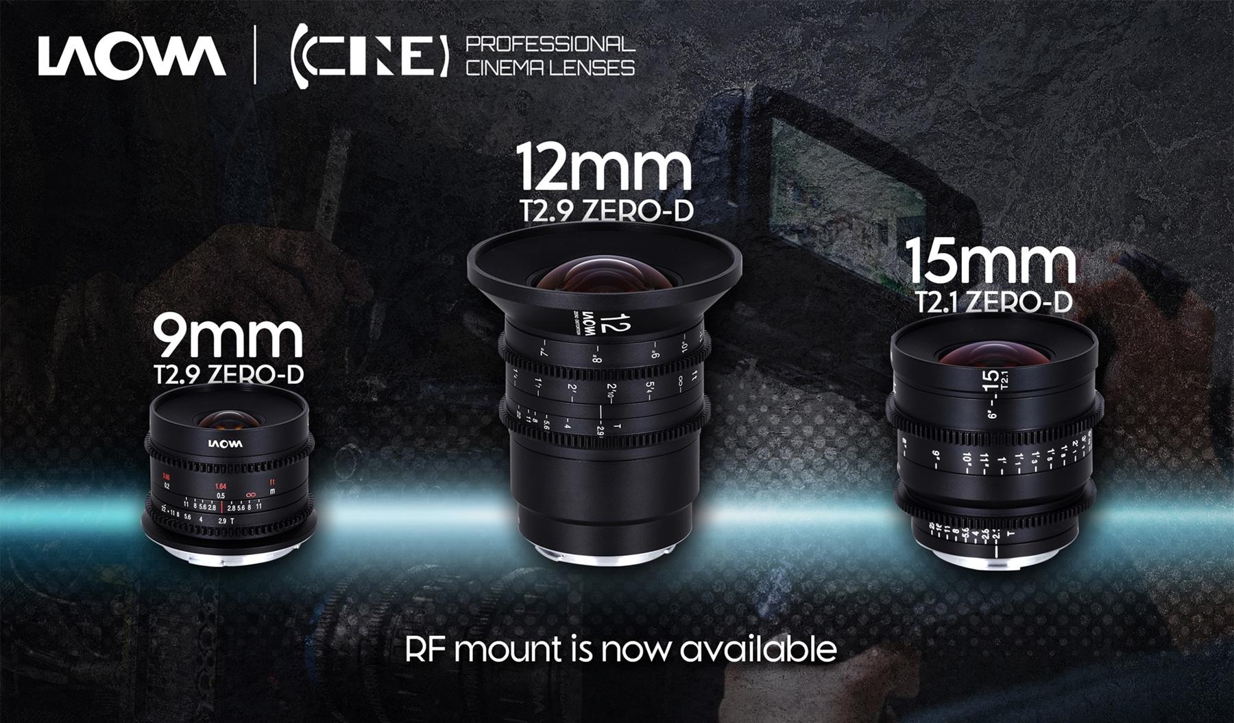Venus Optics ra mắt các ống kính một tiêu cự Laowa 9mm T2.9, 12mm T2.9 và 15mm T2.1 cho hệ máy Canon ngàm RF