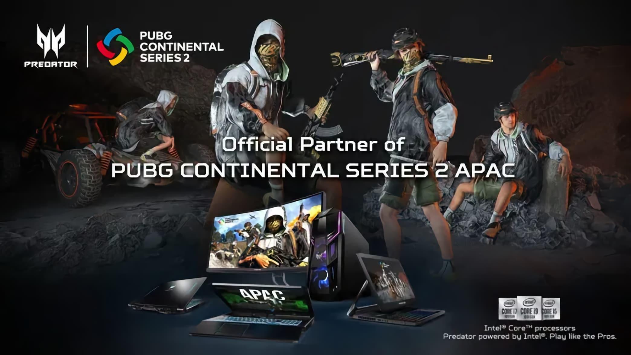Acer là nhà tài trợ chính thức cho PUBG Continental Series 2 APAC