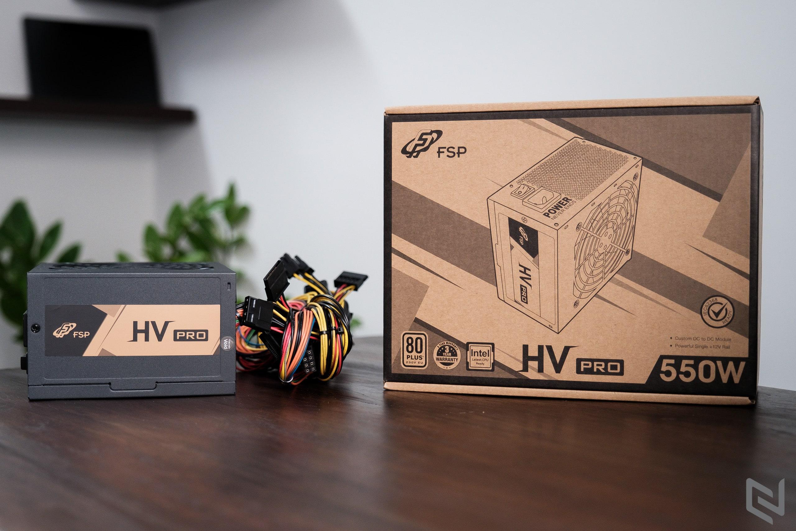 trên tay FSP HV Pro 550W