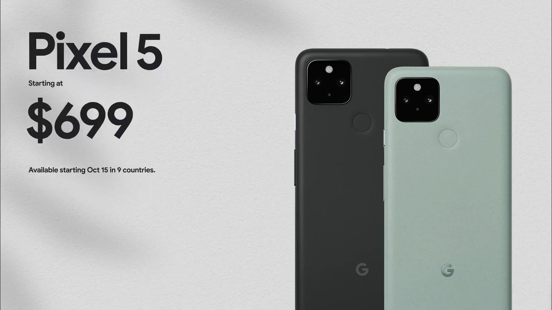 Google Pixel 5 5G ra mắt: Màn hình 6-inch 90Hz, có camera góc rộng, Snapdragon 765G và pin lớn 4080mAh