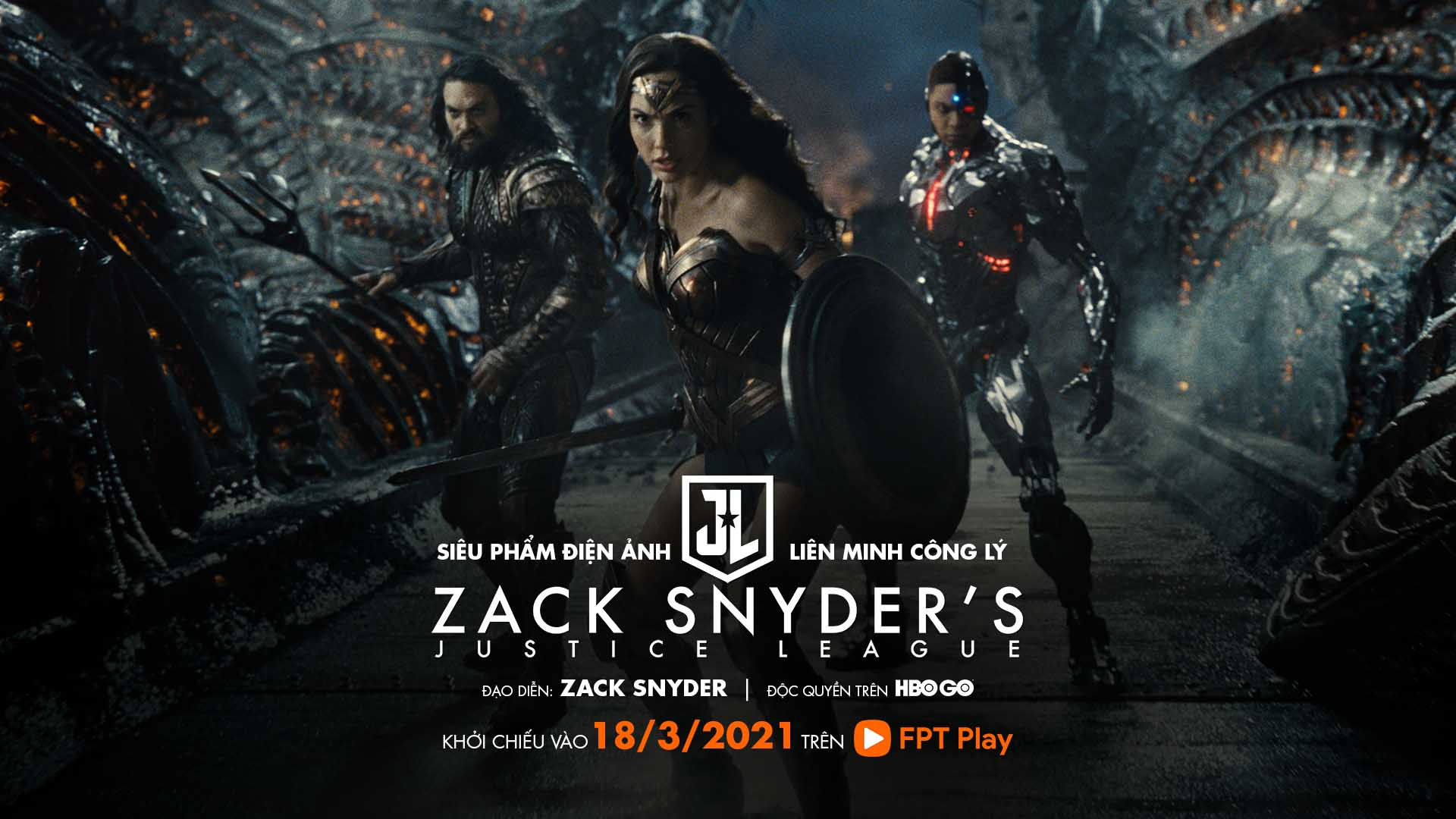 Liên Minh Công Lý của Zack Snyder công chiếu trực tuyến độc quyền HBO GO trên ứng dụng FPT Play