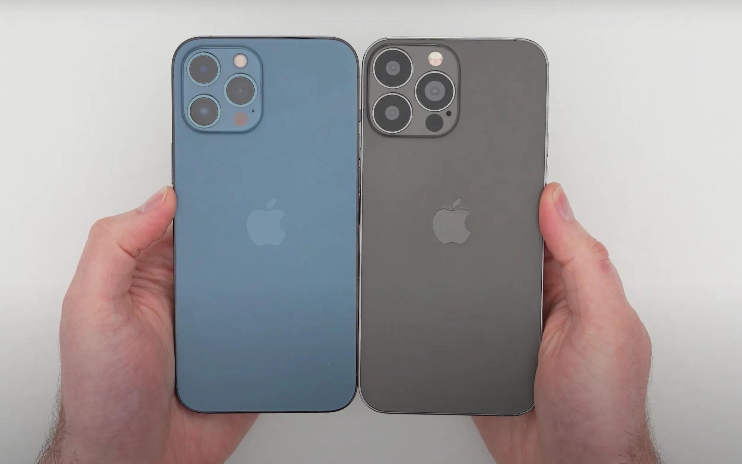 Xuất hiện video về iPhone 13 Pro Max bản dummy với tai thỏ gọn hơn, cụm camera lớn hơn