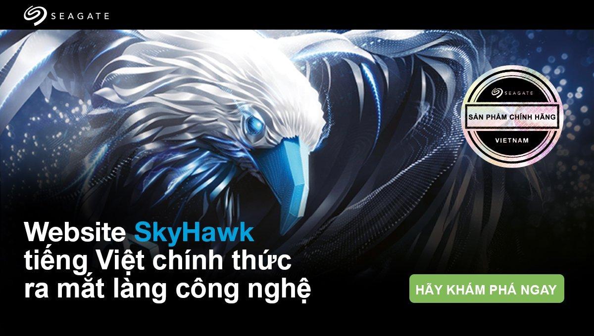 Seagate ra mắt website tiếng Việt cho Giải pháp Giám sát Seagate SkyHawk